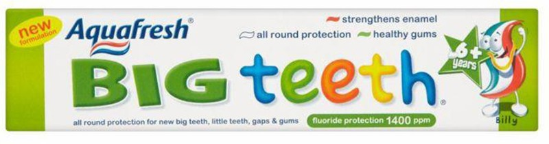 Aqua Fresh Big Teeth Toothpaste (6Y+) - 50ml Toothpaste(50 g)