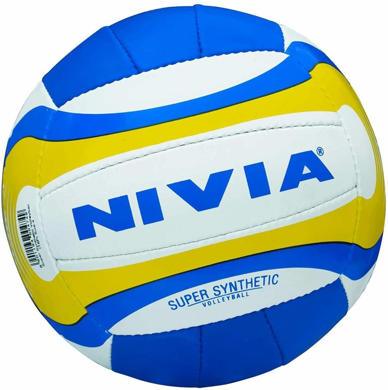 Nivia Super Synthetic Volleyball Volleyball - Size: 4(Pack of 1, Multicolor)