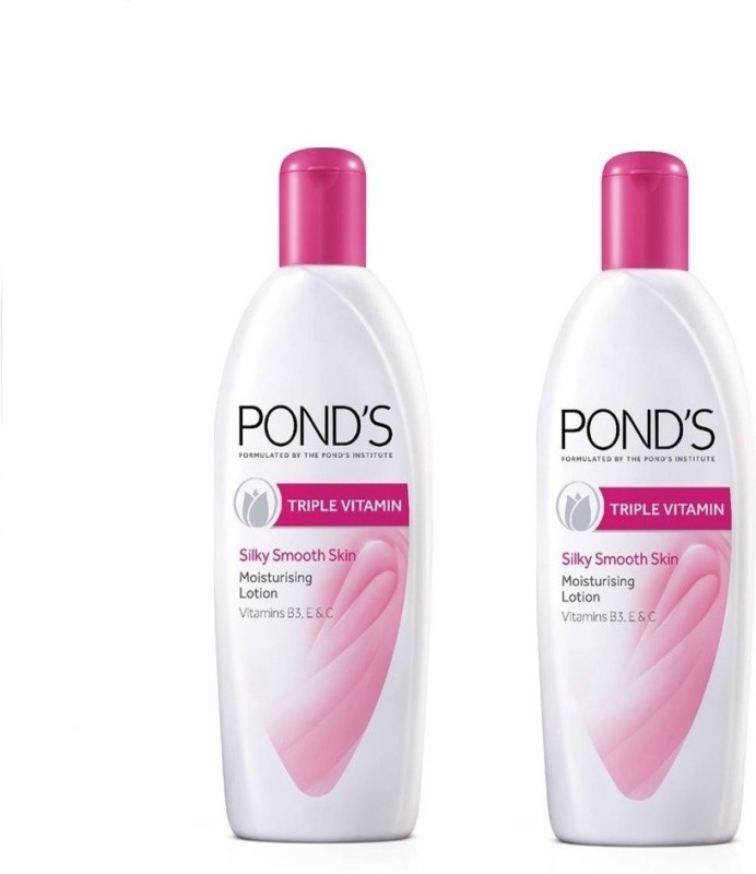 Ponds Triple Vitamin Moisturizing Silky Smooth Skin Lotion 300ML X 2 (600ML)(600 ml)