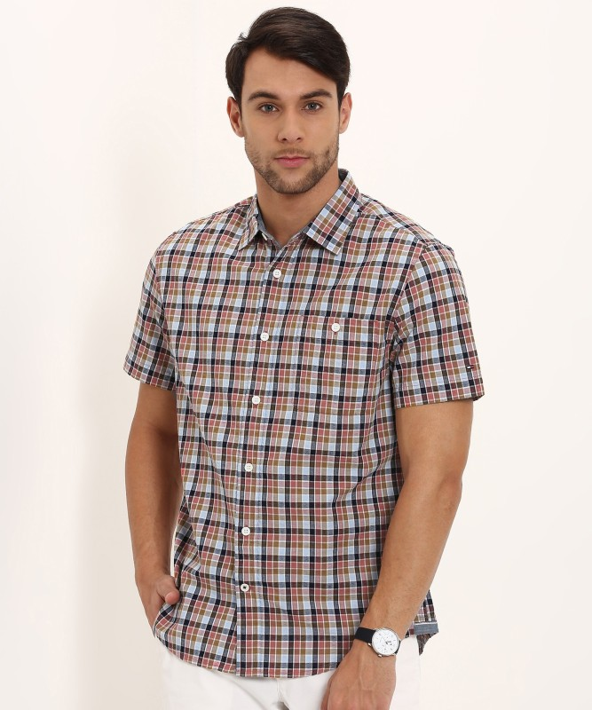 Tommy Hilfiger Men's Checkered Casual Multicolor Shirt