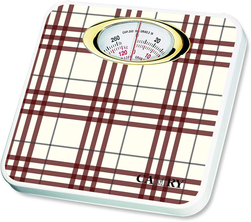 Camry BR9015A-H109 Mechanical Personal Scale Bathroom Scale Health Monitor Device Mechanical Scales Personal Scale with Max Capacity 120 kg Weighing Scale(Brown)