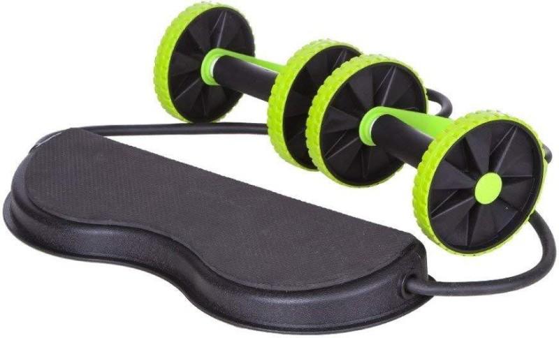 VibeX ™ Extreme Ab Roller Wheel Resistance Band Abdominal Waist Slimming Ab Exerciser(Green, Black)