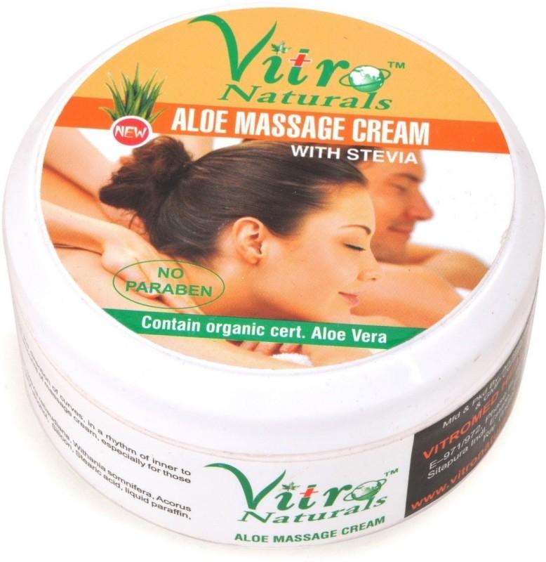 Vitro Naturals Aloe Massage Cream(400 g)