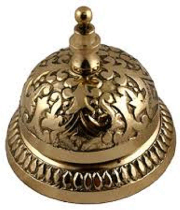 SIMONA SI-BDB004 Brass Desk Bell(Gold, Pack of 1)