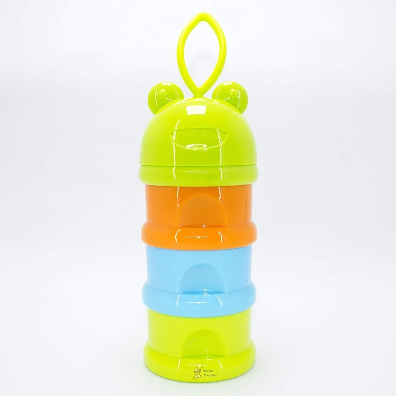 Mumlove New Born Care NBC48 Baby Milk and Food Container with Funnel 0-2 years Green + Blue + Orange(Pack of 1, Green, Blue, Orange)