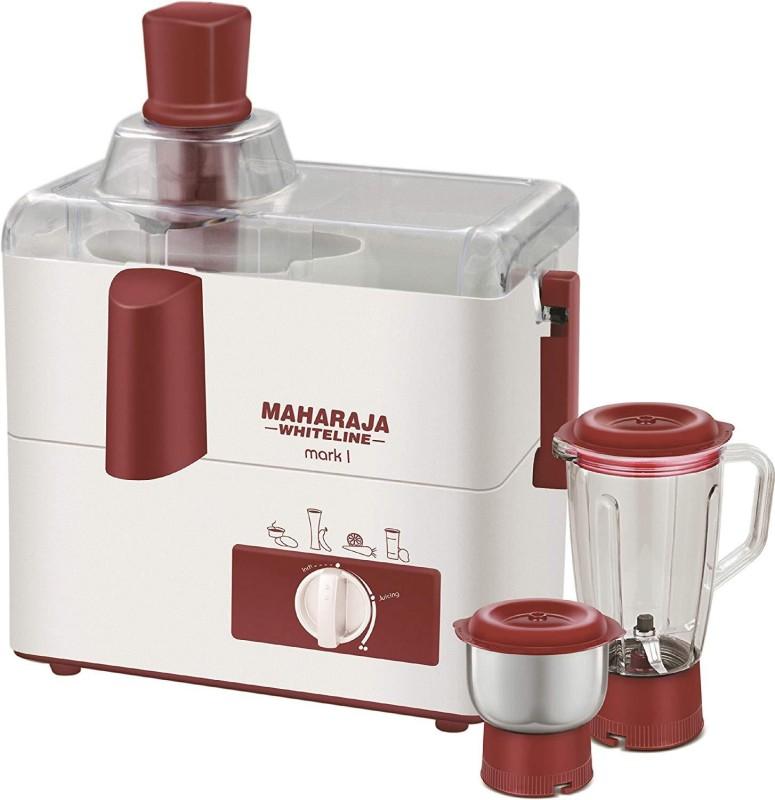 Maharaja Whiteline 10010 Sku 29 450 Juicer Mixer Grinder(White, 2 Jars)