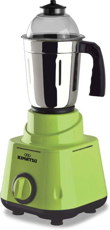 Kimatsu Mixer Grinder with 3 food grade stainless steel jars and a pure copper motor 550 Mixer Grinder(Green, 3 Jars)