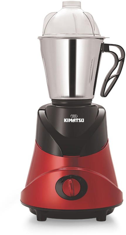 Kimatsu Mixer Grinder with 3 food grade stainless steel jars and a pure copper motor 550 Mixer Grinder(Red, 3 Jars)