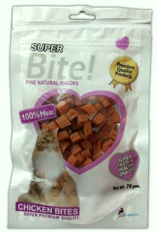 Goofy Tails Super Bite Chicken Bites for Cats 70 gm Chicken Cat Treat(70 g, Pack of 4)