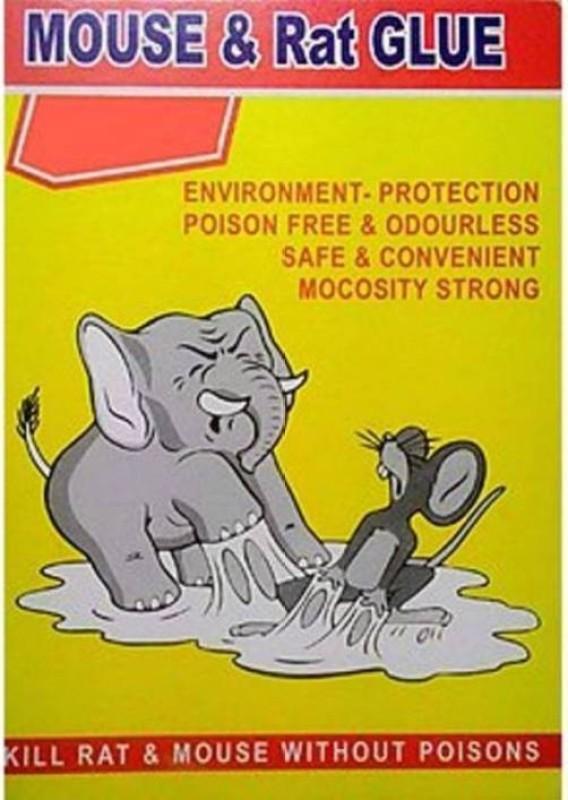 TASHKURST Mouse/Rat Lizard Trap, Rat Catcher Adhesive Sticky Glue Pad- Non Poisonous - Non Toxic - Odourless - Rat Terminator-Yellow-1Pc Live Trap