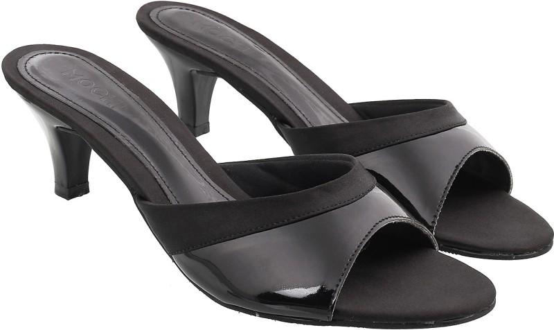 Mochi Women Black Heels- Buy Online in