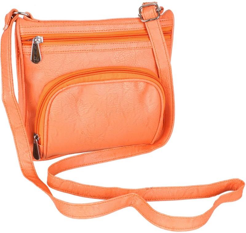 Leather Land Orange Sling Bag
