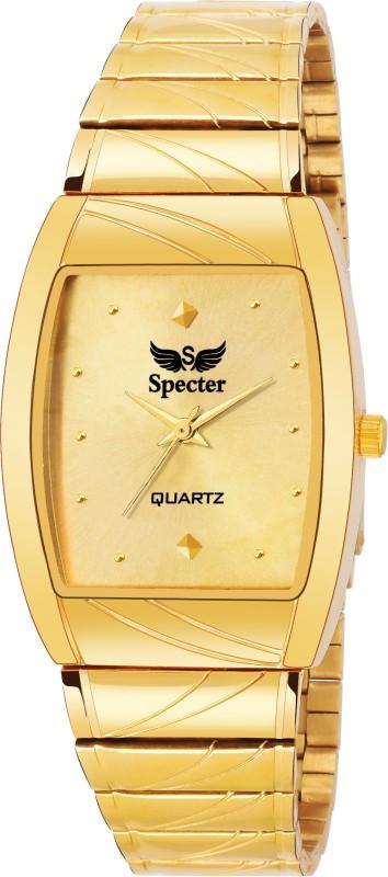 specter gold plating orignal profesional casual boys med c3 Golden Analog Watch  - For Men