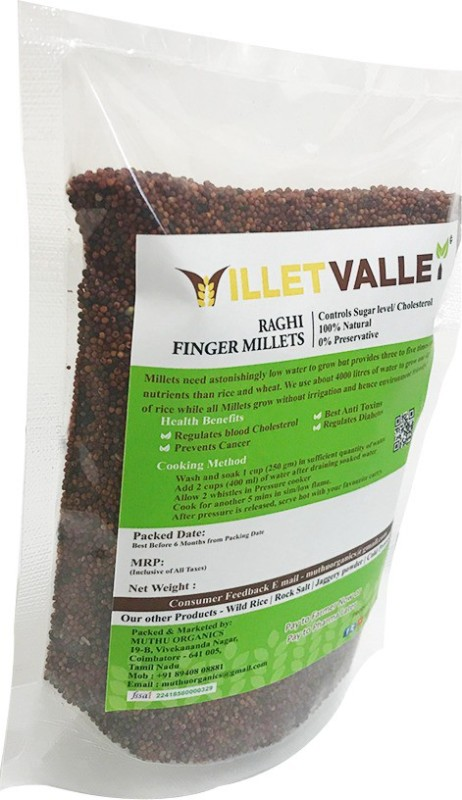 millet valley RAGHI UNPOLISHED 800G Finger Millet(800 g)