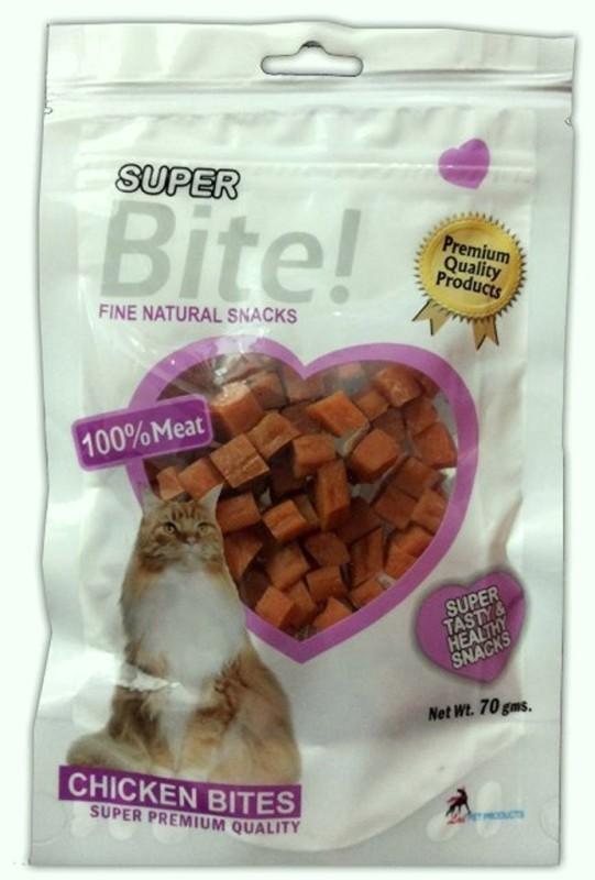 Super Bite Bites Chicken Cat Treat(70 g, Pack of 3)