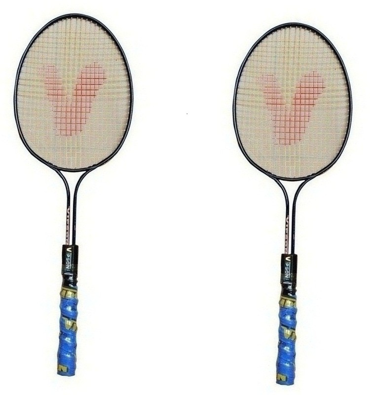 vipson Double Rod Shaft Light Weight Strung Badminton Racquet Pair For Kids 3 To 8 Years Multicolor Strung Badminton Racquet(S3 - Small, 350 g)