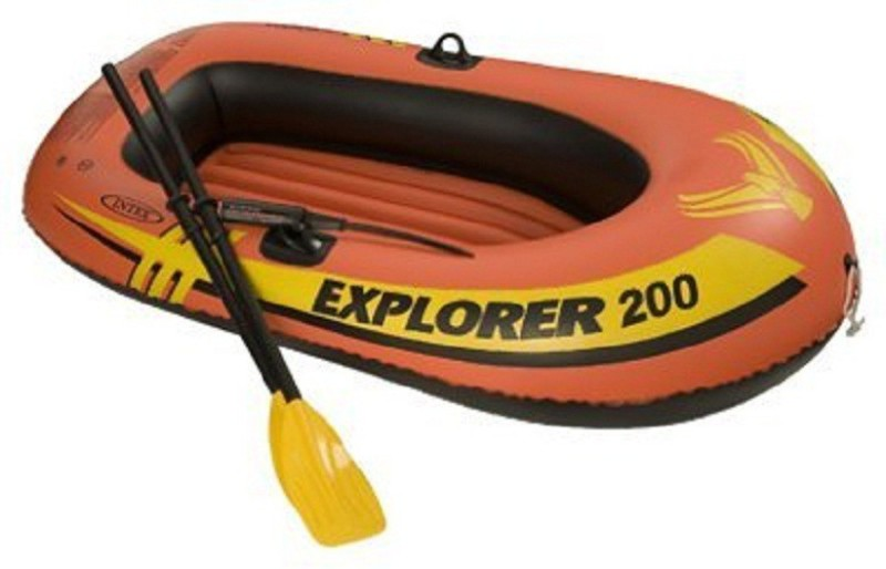 Kartsasta Recreation 58331EP Explorer 200 2 Person Boat Set, 73x73Inches Oar Water Raft(Multicolor)