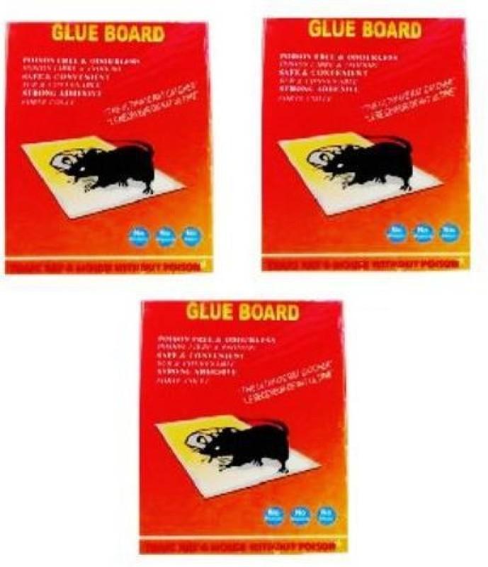 TASHKURST Rat / Mouse Lizard Trap, Rat Catcher Adhesive Green Killer Mouse Glue Board- Non Poisonous - Non Toxic - Odorless - Rat Terminator- 3PC Snap Trap