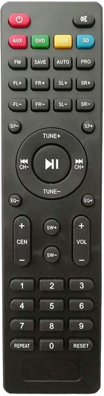 LipiWorld Home Theater System Remote Control Compatible for USB SD AUX ZEBRONICS (Long) Remote Controller(Multicolor)