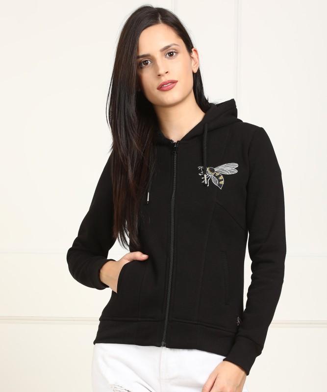 Monte Carlo Full Sleeve Self Design Women Sweatshirt