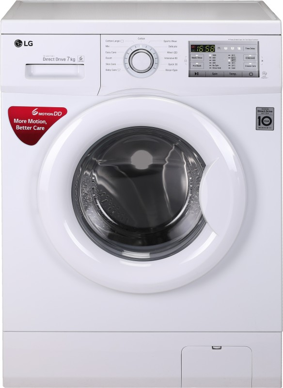 LG 6 kg Fully Automatic Front Load Washing Machine White(FH0H3NDNL02)