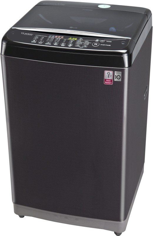 LG 8 kg Fully Automatic Top Load Washing Machine Black(T9077NEDLK)