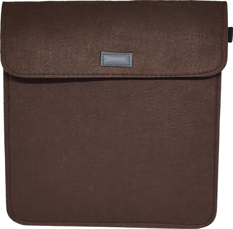 Visual Echoes Premium Double Layered Felt IPAD & TABLET Sleeve For Scratch Resistance & Protection. Compliable Upto 9.7-Inch IPAD & TABLETS - Brown Color Waterproof Laptop Bag Cover(M)