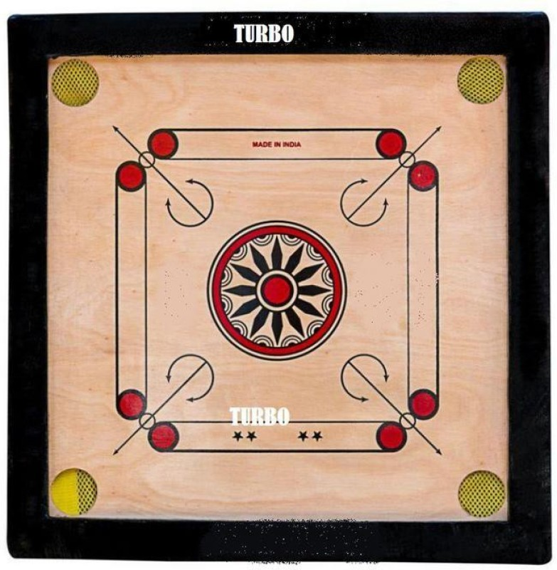 TURBO High Quality 60 cm Carrom Board(Beige)