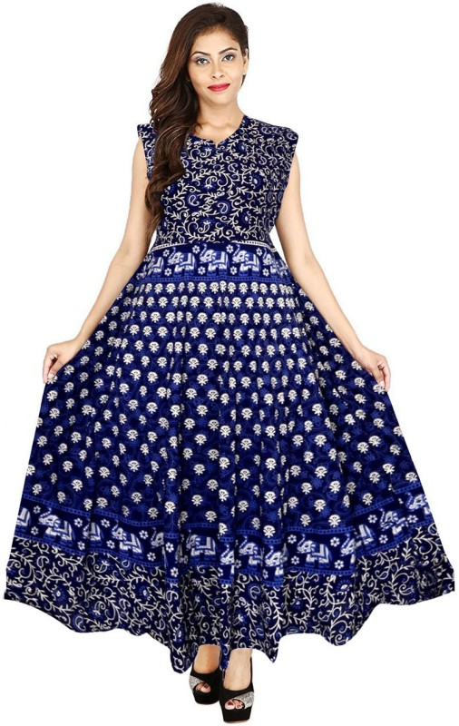 Silver Organisation Women's Fit and Flare Blue Dress