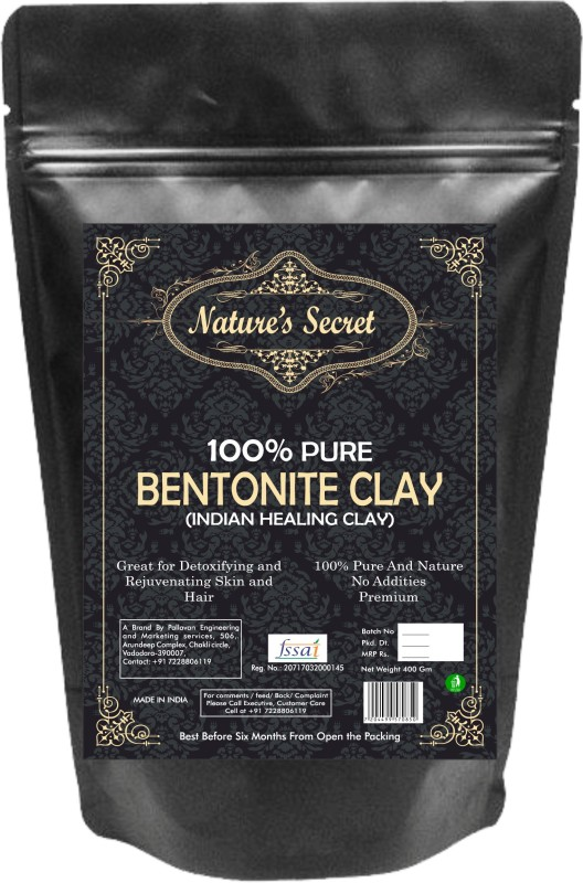 nature's secret Bentonite Clay Powder Organic. Use for Clay Mask Detox Etc. Healing Detoxifying Useful on Oily Skin. Cosmetic-grade. Face & Body Detox. Supports Eye Health (400)(400 g)
