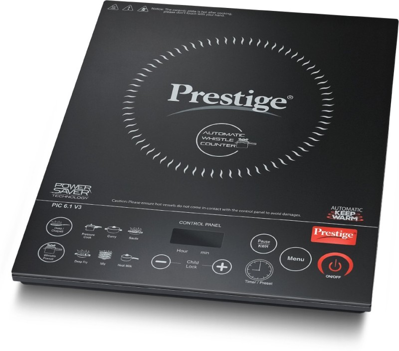 Prestige PIC 6.1 V3 Induction Cooktop(Black, Push Button)