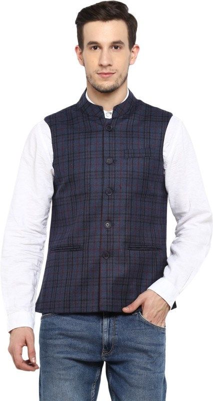 Monte Carlo Sleeveless Checkered Men Jacket