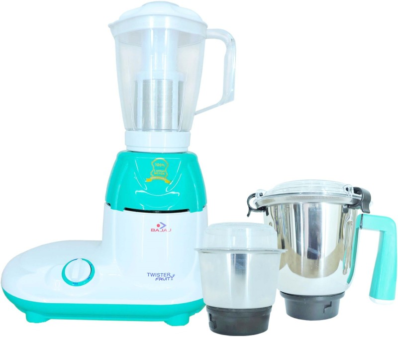 Bajaj TWISTER FRUITY 750 Juicer Mixer Grinder(Multicolor, 3 Jars)
