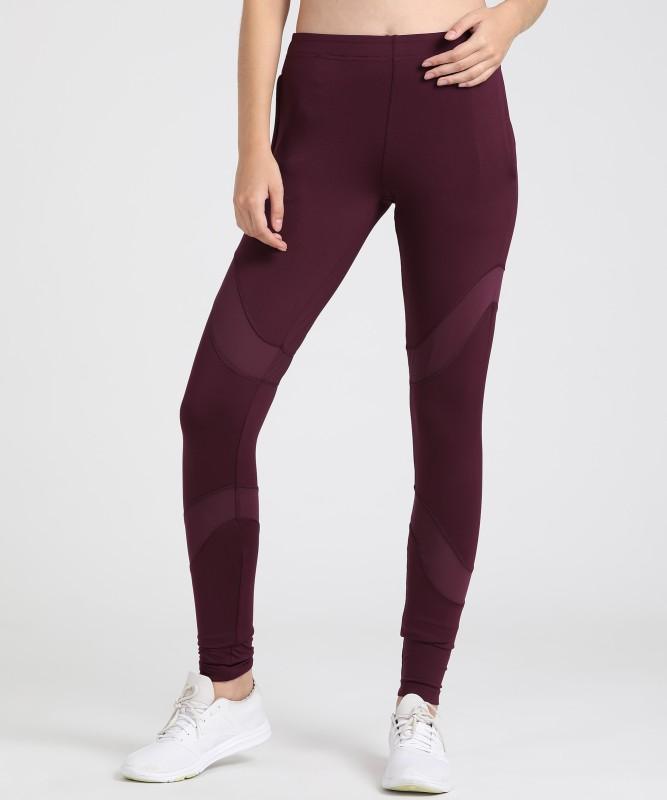 Alcis Solid Women Purple Track Pants