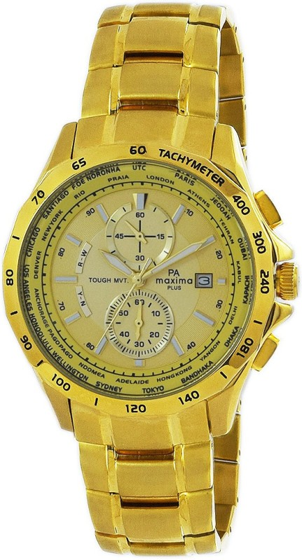 Maxima 46150CMGY Watch - For Men