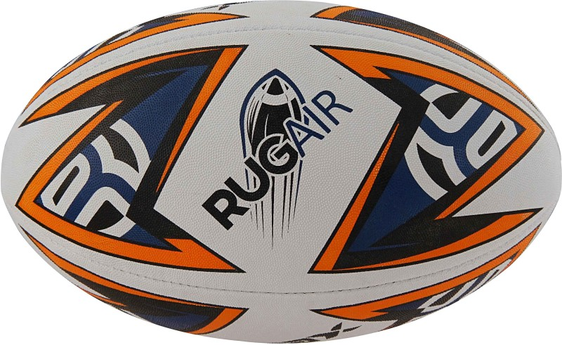 Rmax RUGAIR 3Ply Synthetic Rubber Top Grade Rugby Ball Size 5 Rugby Ball - Size: 5(Pack of 1, Orange)
