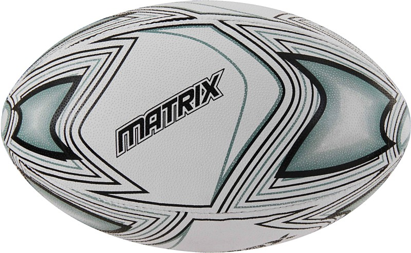 Rmax Matrix Grey 2Ply Synthetic Rubber Top Grade Rugby Ball Size 5 Rugby Ball - Size: 5(Pack of 1, Grey)