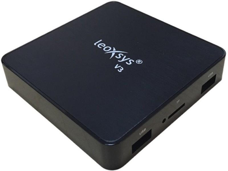 leoxsys V3 4K Android mini pc 2GB RAM 16GB - Quad Core Cortex-A53 2GHZ, ARM® Cortex™-A53, Quad-core 64-bit ARM® Cortex™-A53 up to 2GHz, 2 GB Graphics Card, 2 GB DDR3, 32 GB 2 2 Mini PC(Black)