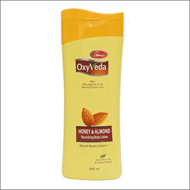 Simco Oxyveda Honey & Almond Body Lotion 300ml(300 ml)