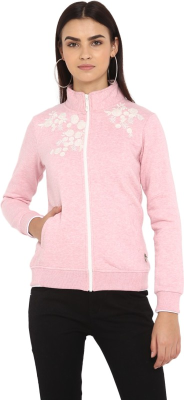 Monte Carlo Full Sleeve Solid Women Sweatshirt