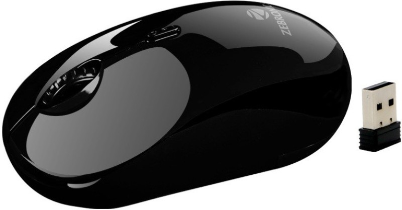 Zebronics Jade Wireless Optical Gaming Mouse(2.4GHz Wireless, Black)