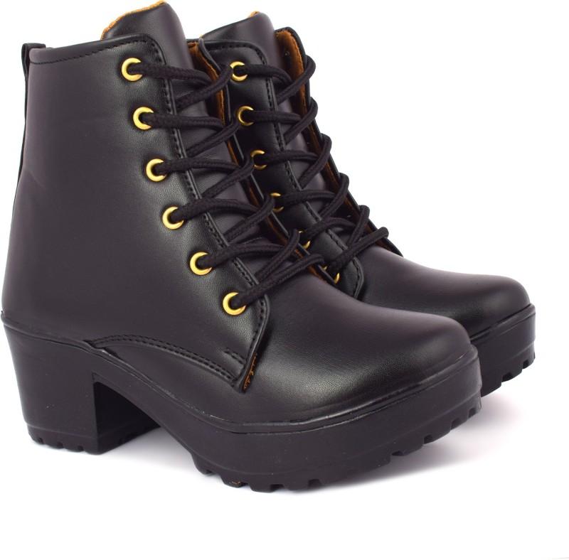 Krafter women plan boots Boots For Women(Black)