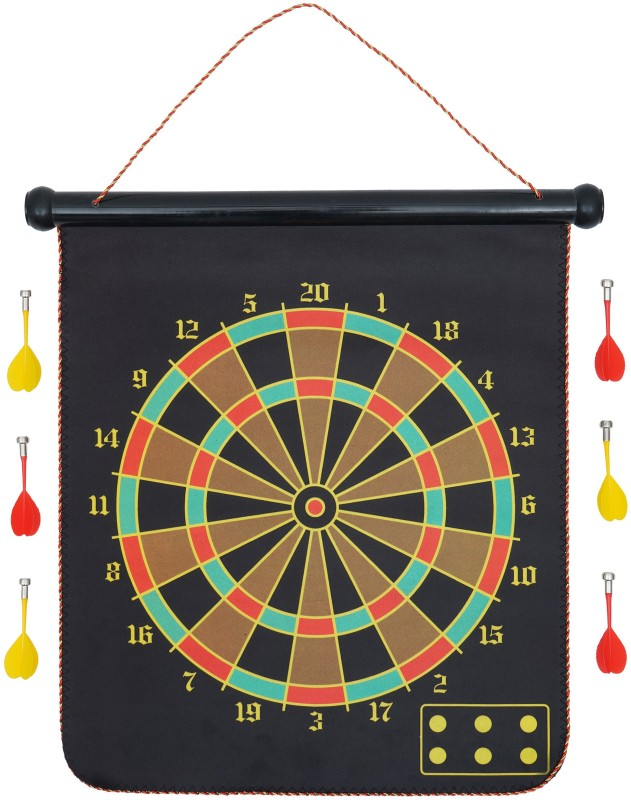Arrowmax MAGNETIC DARTBOARD (17 INCH) WITH 6 DARTS BY ONE SHOT RETAIL 17 Dart Board(Multicolor)