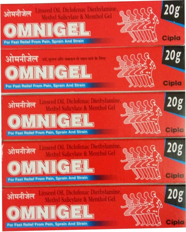 Cipla OMNIGEL 20 GM (PACK OF 5) Gel(20 g)