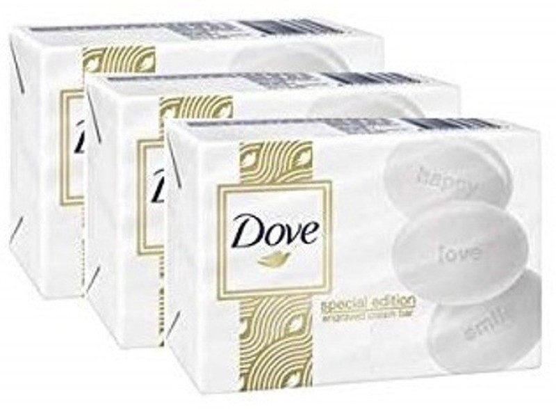 Dove Special edition Engraved White Bar 100g (Pack of 3)(100 g, Pack of 3)