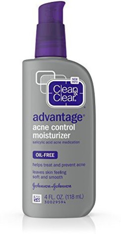 Clean & Clear Advantage Acne Control Facial Moisturizer, 4 Fl. Oz. (Pack of 3)(70 g)