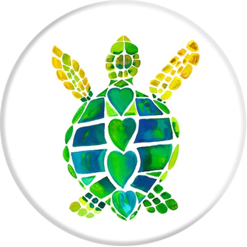 PopSockets Original & Reusable Grip- Turtle Love Mobile Holder