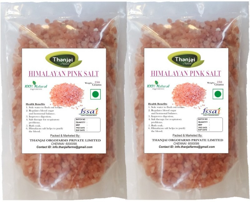 Thanjai iyerkai Himalayan 1st Quality Pink Rock Salt 500grams Best Offer !!! Rock Salt Rock Salt(500 g, Pack of 2)