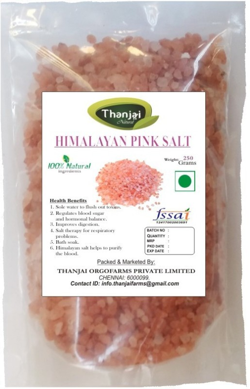 Thanjai iyerkai Himalayan 1st Quality Pink Rock Salt 250grams Best Offer Rock Salt(250 g)