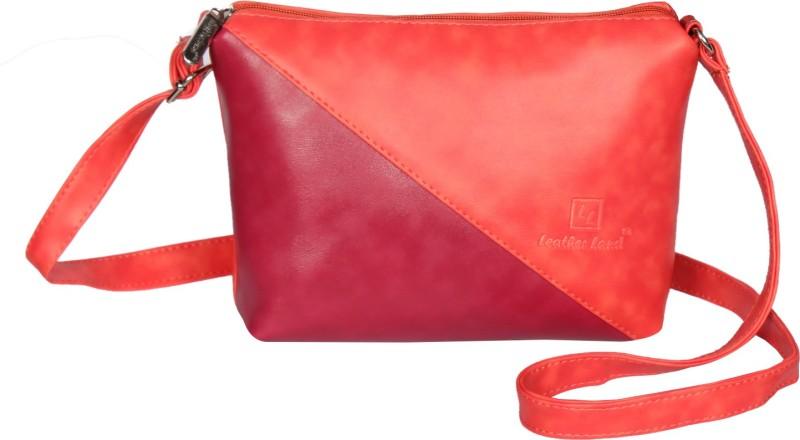 Leather Land Orange, Pink Sling Bag